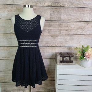 Free People Daisy Fitted Black Dress 2
